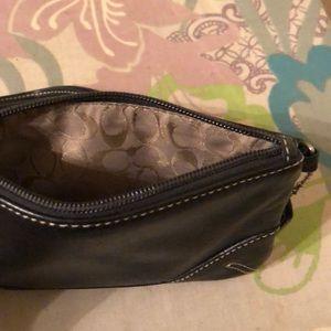 Coach Bags - Coach, wristlet, black leather